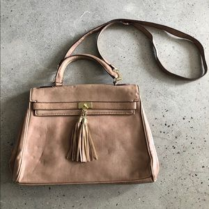 Aldo Faux Leather Tan Purse